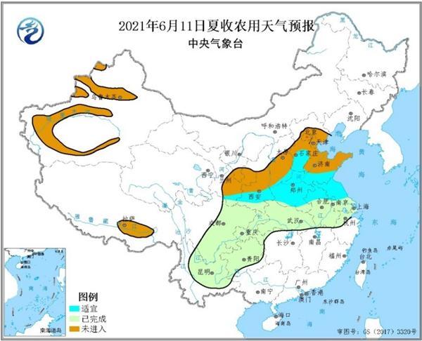 三夏时节强降雨强对流多发 华北等地夏收需防雷雨